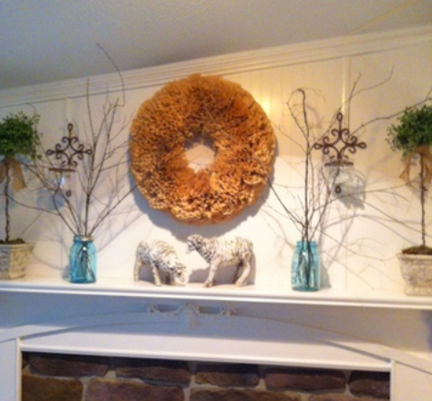 double wide kitchen makeover - dining room mantle makeover