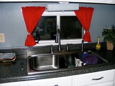 single wide kitchen remodel-kitchen window