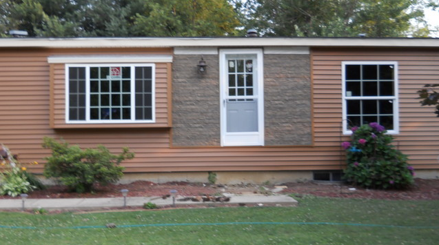 Double wide exterior remodel mobile manufactured home Single wide mobile home exterior remodel