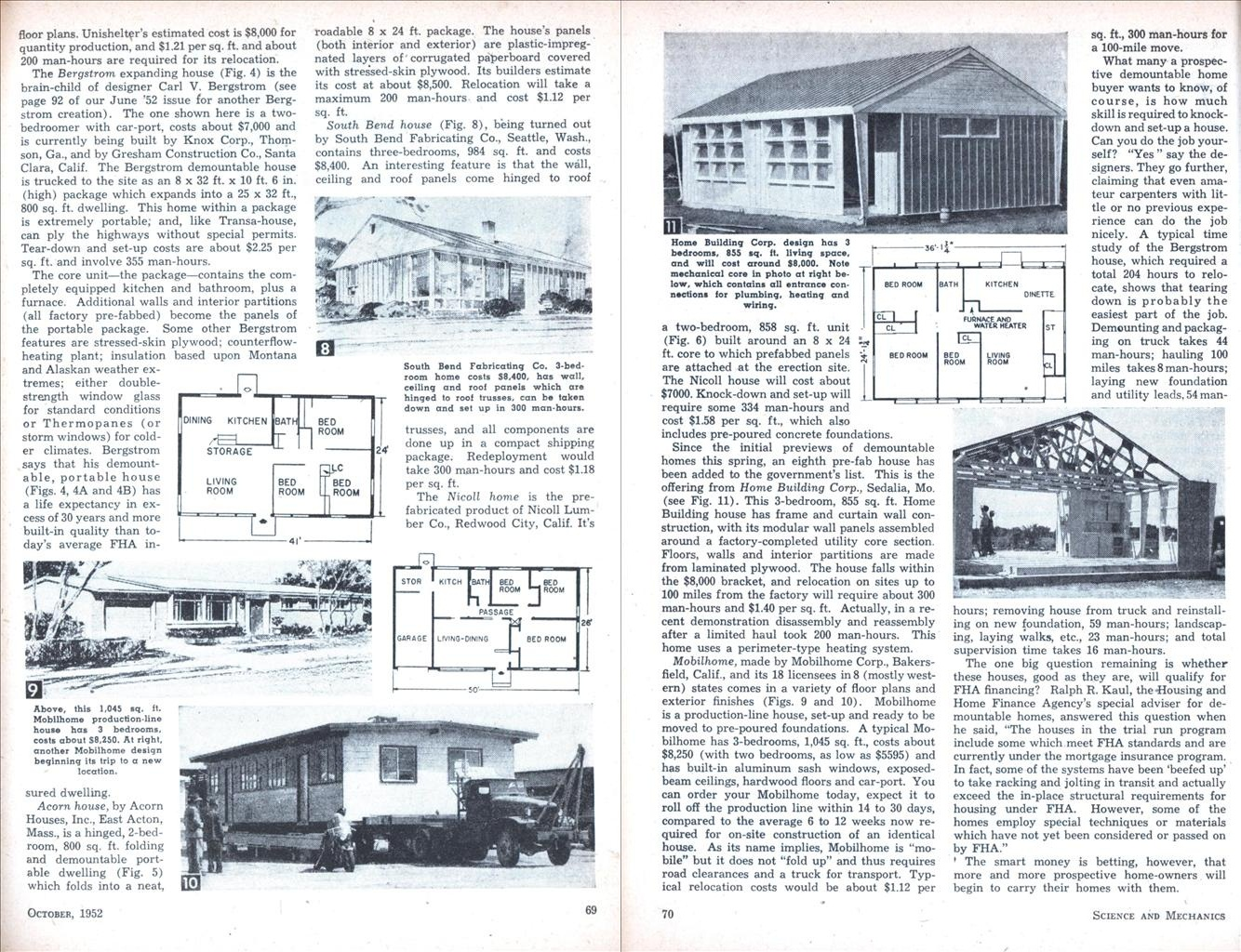 Fold Up Homes Of The 1950 S