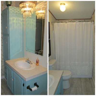 manufactured home-bathroom before and after