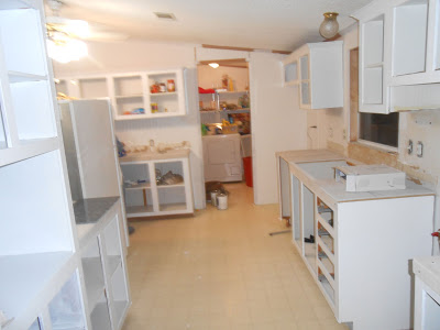 manufactured home makeover-remodeling kitchen