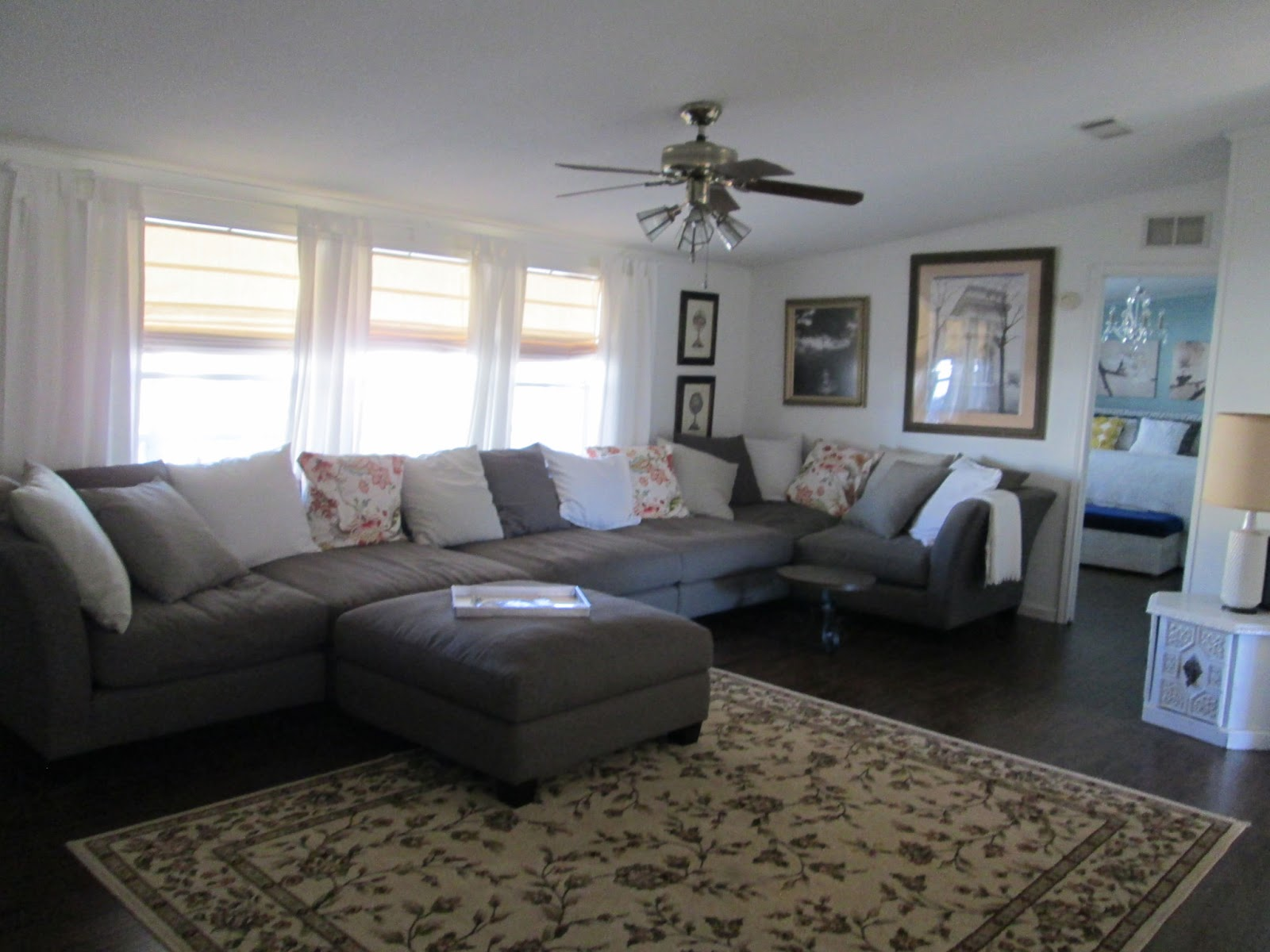 Marvelous manufactured home makeover mmhl for Living room pics