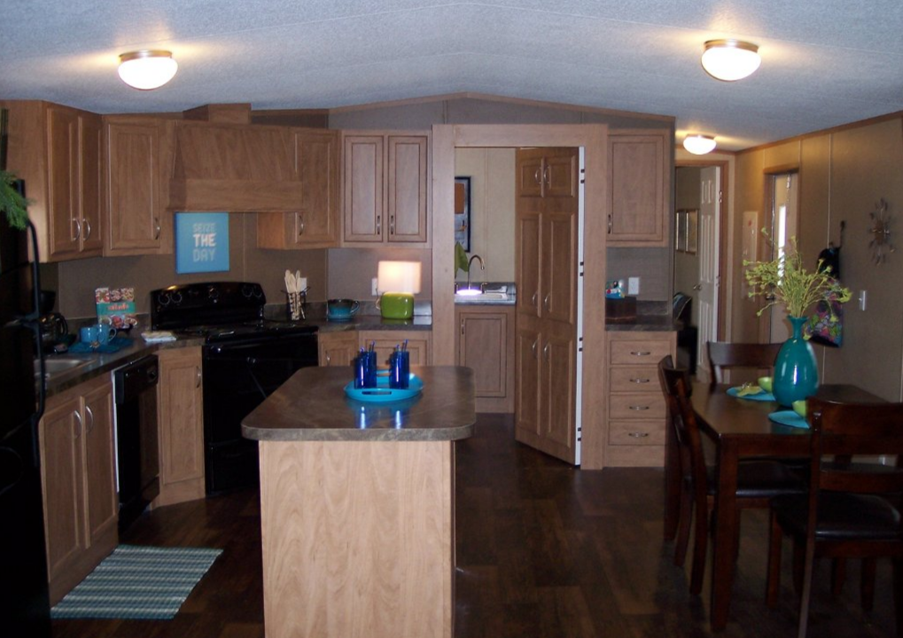 Modern single wide manufactured home for Show me kitchen designs