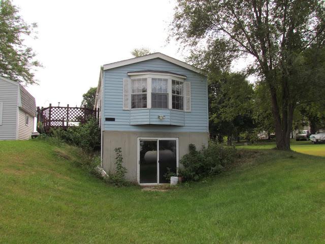 Cedar siding on a mobile home