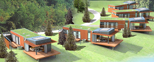 Modern Green Pre-Fab Homes