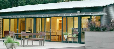 modern green pre-fab homes