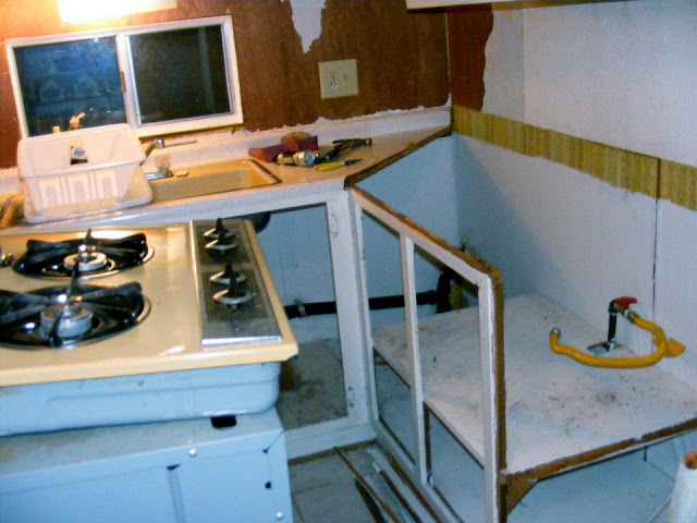 single wide kitchen remodel-kitchen tear out