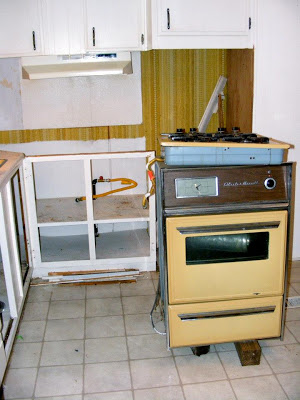 single wide kitchen remodel-kitchen during