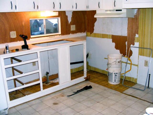 single wide kitchen remodel-kitchen tear out 3