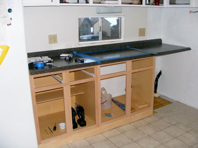 single wide kitchen remodel-countertop