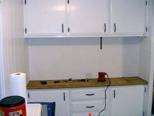 single wide kitchen remodel-buffet during