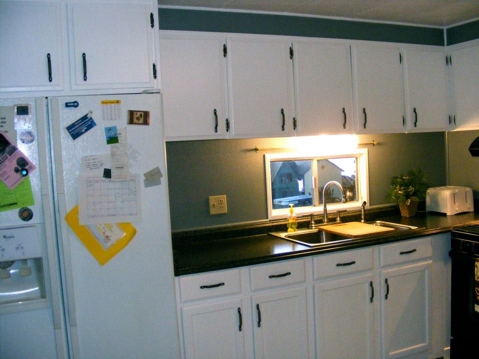 1971 skyline single wide kitchen remodel mmhl for Mobile home kitchens pictures