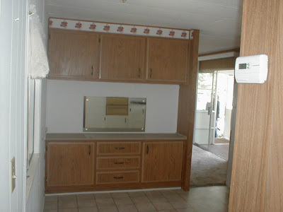 single wide kitchen remodel-buffet before