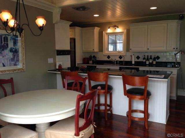 breakfast bar in remodeled double wide