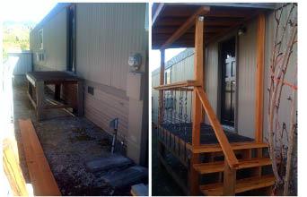 building a back porch onto a mobile home