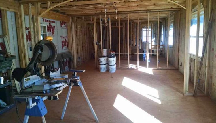 building a room addition - framing out the walls in a two-story addition onto a manufactured home