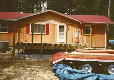 building foundation for manufactured home addition