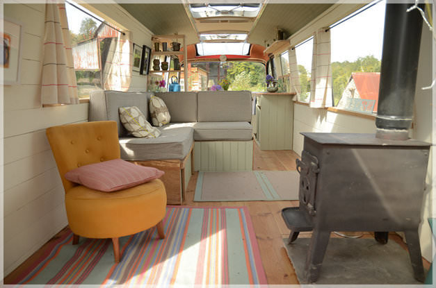 bus conversions-bed and breakfast interior
