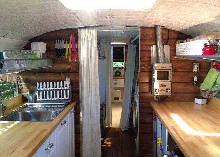 bus conversions-big bertha interior