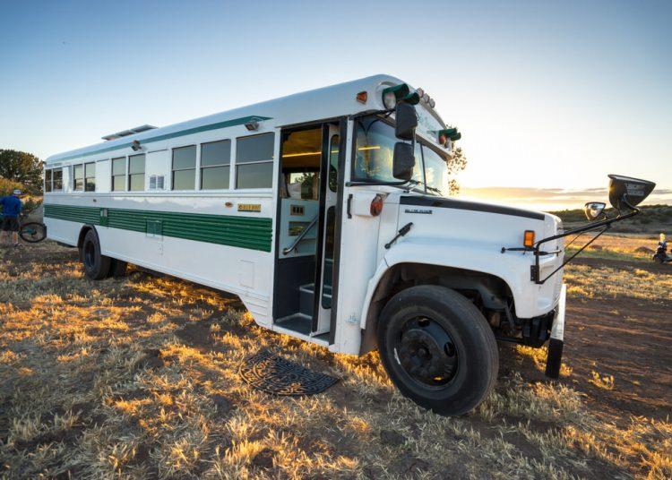 bus conversions-bluebird exterior