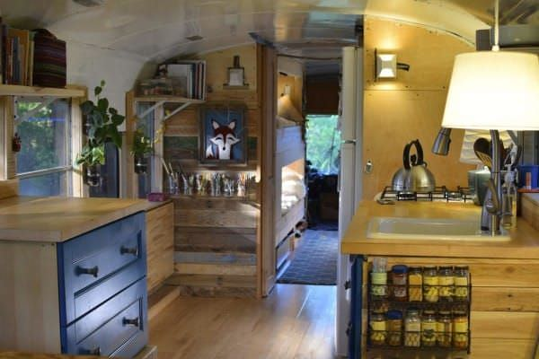 bus conversions-family of 6 kitchen