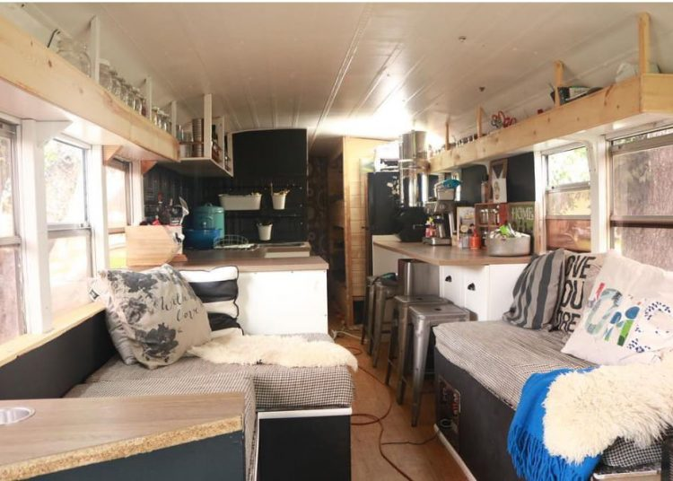 bus conversions-family of 8 interior
