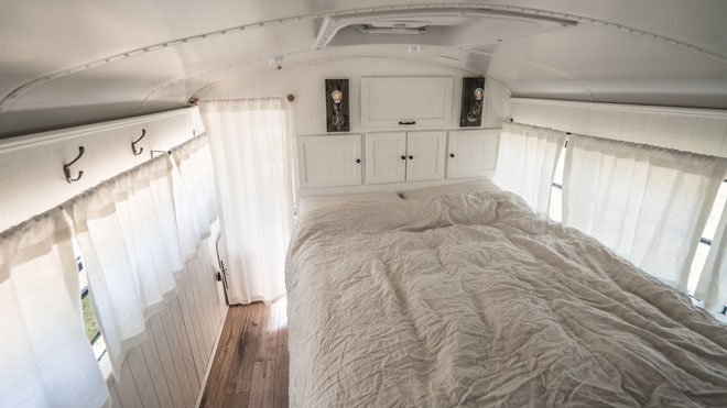 bus conversions-germany bedroom