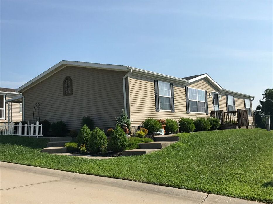 buying a mobile home in Ohio-double wide with landscaping