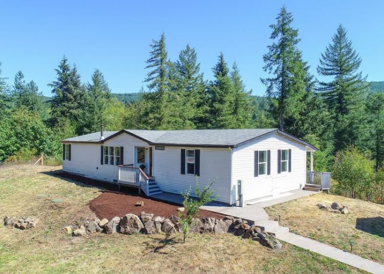 buying a mobile home in washington-double wide with view
