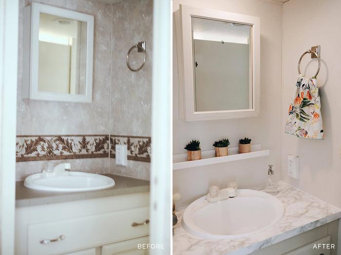 3 Cute Camper Decorating Ideas -5th wheel bathroom