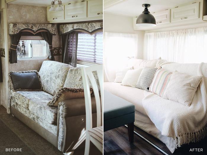 3 Cute Camper Decorating Ideas -5th wheel living area