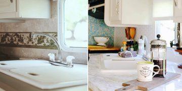 camper decorating ideas-5th wheel sink