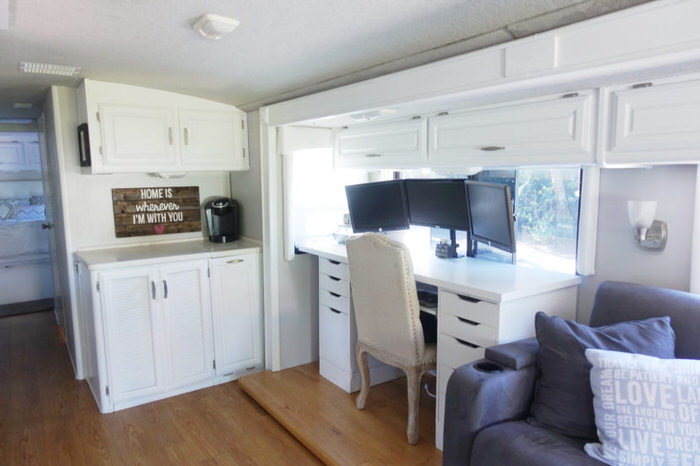 3 Cute Camper Decorating Ideas -rv desk