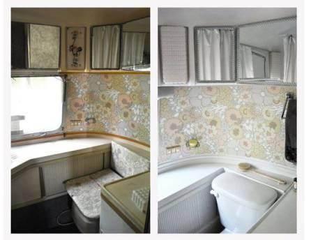 camper remodel - 1968 airstream bathroom