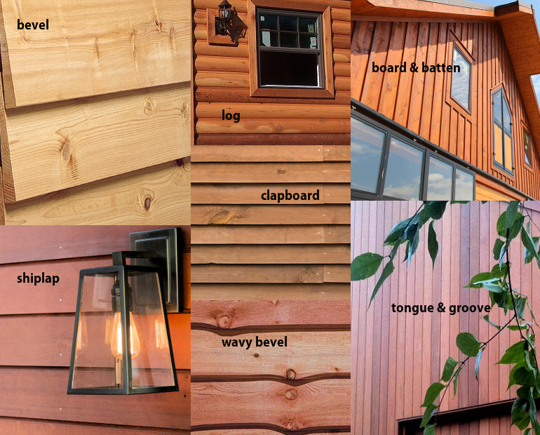 Cedar siding on manufactured homes 500 reclaimed siding for Types of wood siding for homes