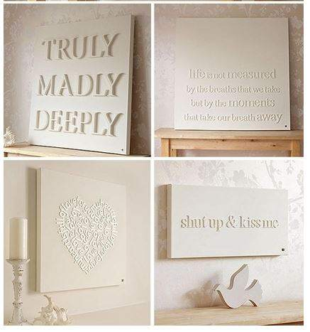 cheap-wall-art-ideas-flat-wooden-letters-on-canvas
