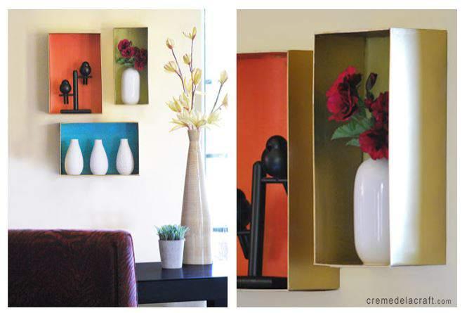 cheap-wall-art-ideas-using-show-box-as-shelf