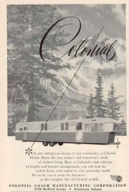 Vintage mobile homes-colonial 1955