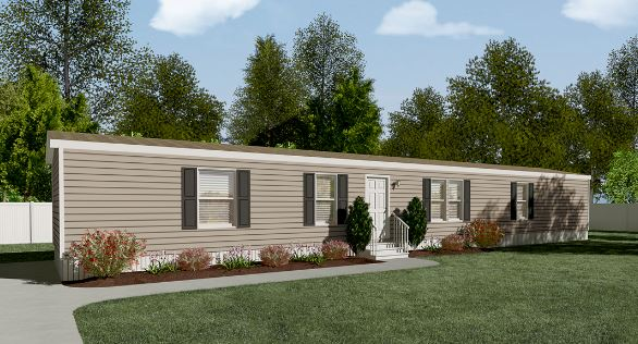 compare a shipping container home to a manufactured home - exterior of a single wide