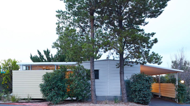 Omplete 1964 mobile home remodel - after - exterior