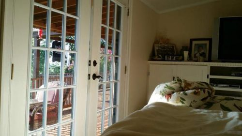 complete double wide remodel in Arkansas - bedroom french doors