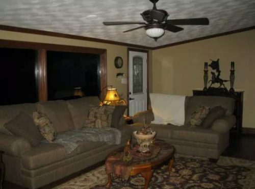 complete double wide remodel in Arkansas - living room after 4