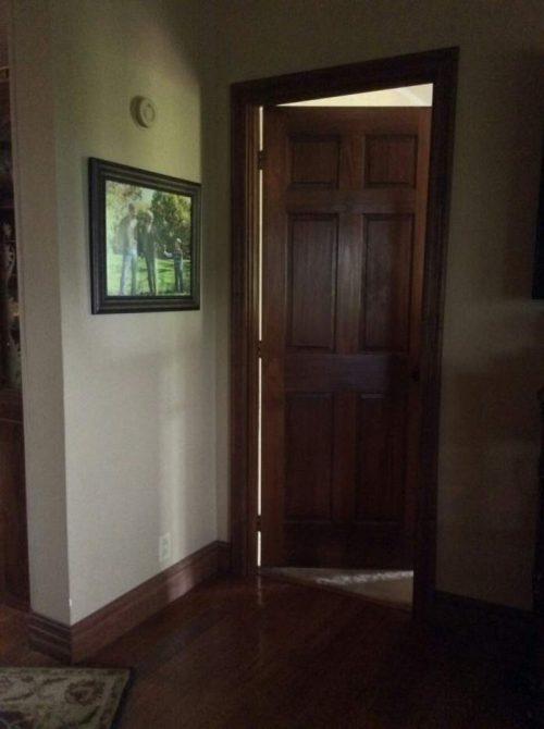 complete double wide remodel in Arkansas - new doors