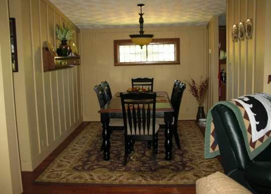 complete double wide remodel in Arkansas - dining room after