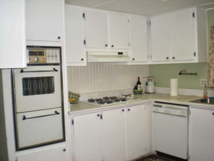 complete mobile home transformation - kitchen update