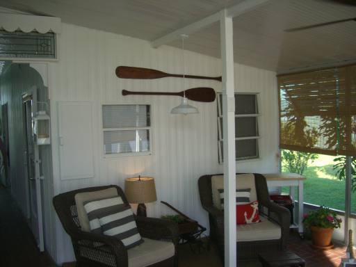 cottage style manufactured home decor - featured home (covered porch)