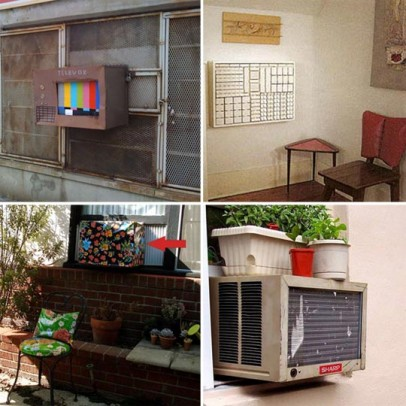 air conditioner cover-covering an air conditioner - stylish ideas
