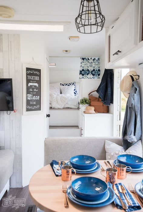 cozy RV remodel-bed