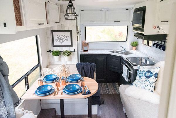 cozy RV remodel-kitchen
